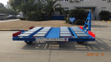 China Safety Container Pallet Dolly Hot Dipped Galvanized With Swivel Wheel factory