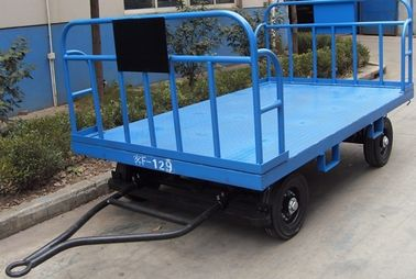 Stable Airport Luggage Carts , Cargo Dolly Trailer 3 mm Faceplate Steel Plate