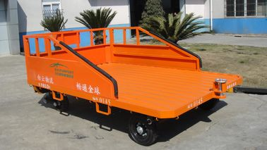 Three Railsaviation Ground Support Equipment 1500 Kg Cargo Dolly Trailer Orange Color