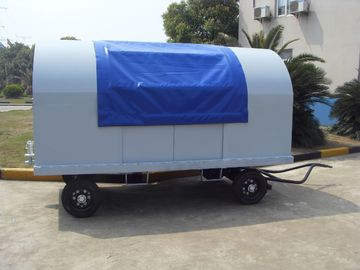 China Waterproof Airport Baggage Cart Square Tube Fixed Canopy 5 Units Behind Pull factory
