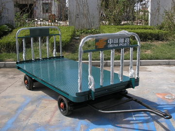 China Blue Airport Luggage Trailer Seamless Steel 42 X 4 mm Tow Bar CE Standard factory