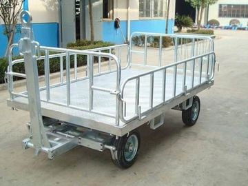 China Non Slip Airport Baggage Cart , Container Pallet Dolly Wear Resistant factory