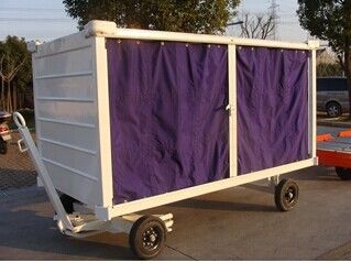 Aviation Airport Baggage Trolley , Cart Airport Luggage Trolley With Canopy