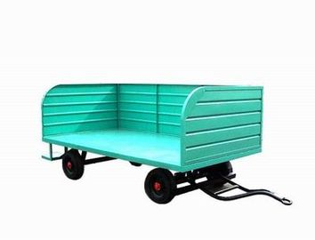Three Rail Airport Baggage Cart 30 km / H Speed 3000 kg Loading Capacity