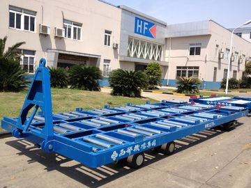 Labor Saving 20 Ft Container Pallet Dolly Wear Resistance With Solid Tire